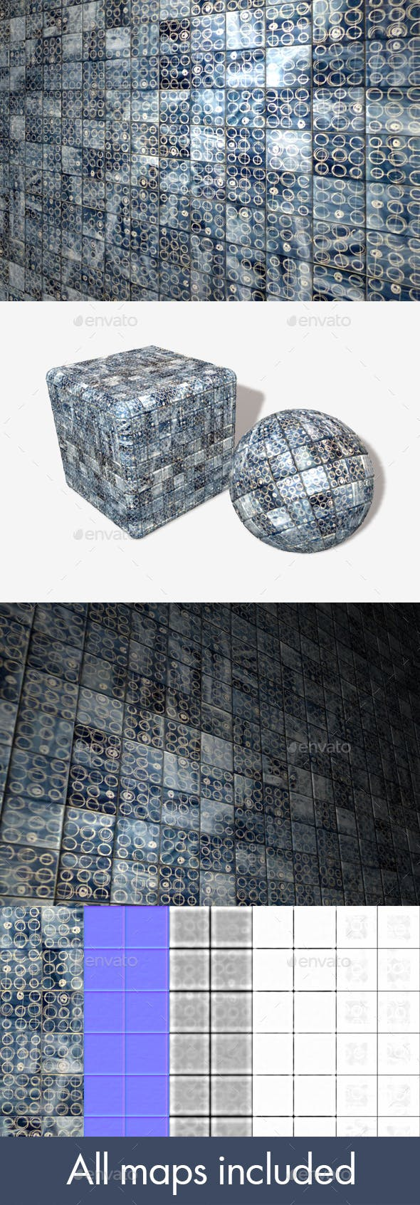 Modern Patterned Tiles Seamless - 3DOcean Item for Sale