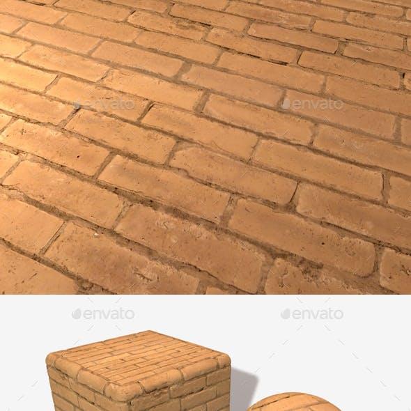 Painted Orange Bricks Seamless Texture
