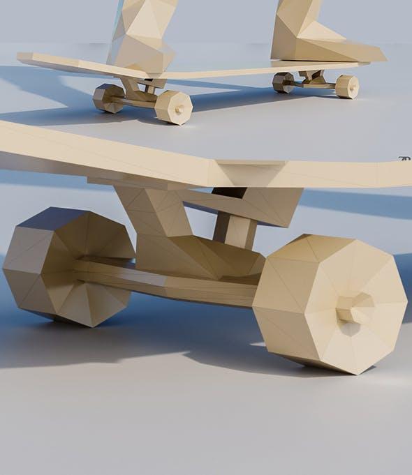Lowpoly Skateboard - 3DOcean Item for Sale