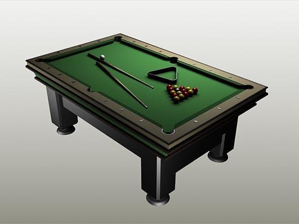 Billiard (Pool) Table - 3DOcean Item for Sale