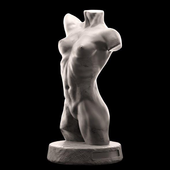 Female torso sculpture - 3DOcean Item for Sale