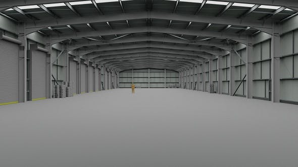 Warehouse Interior 2 - 3DOcean Item for Sale