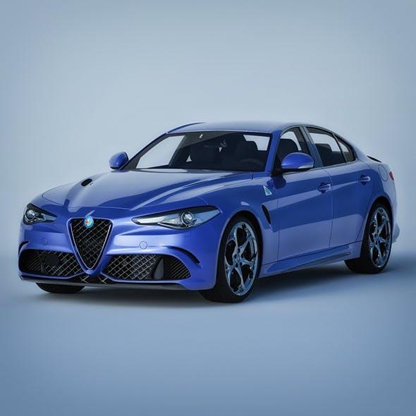 Vray Ready Alfa Romeo Giulia Car