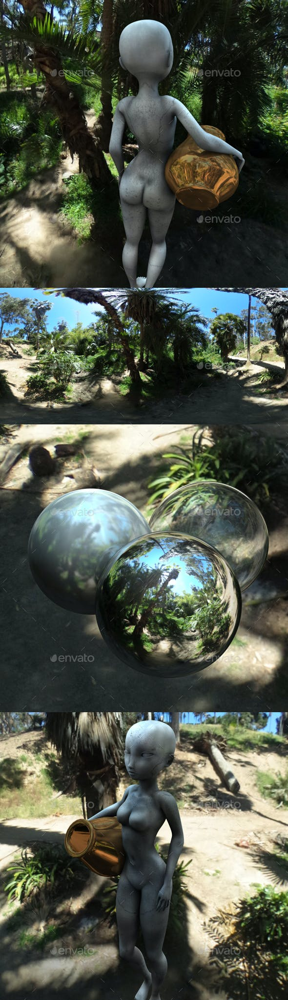 Sunny Tropical Jungle HDRI - 3DOcean Item for Sale