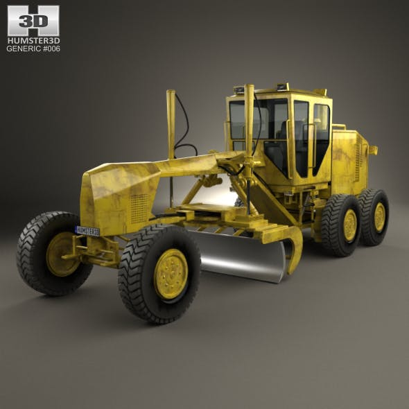 Generic Motor Grader - 3DOcean Item for Sale