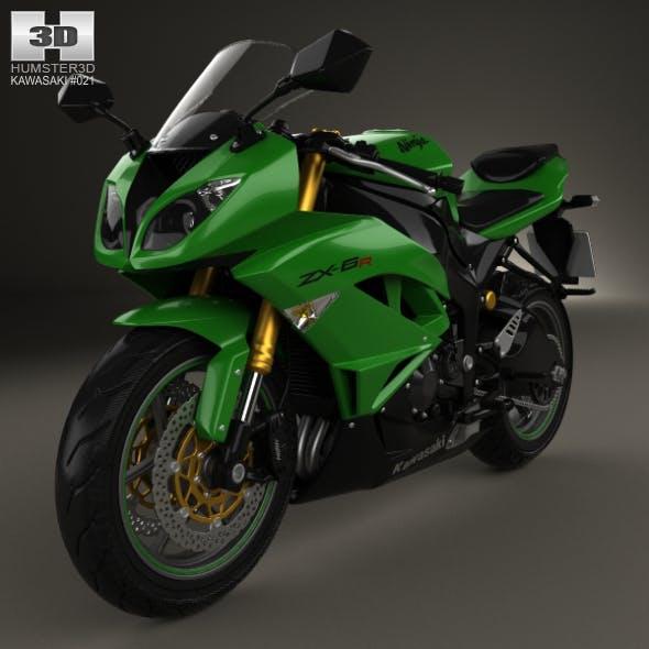 Kawasaki ZX-6R 2014 - 3DOcean Item for Sale