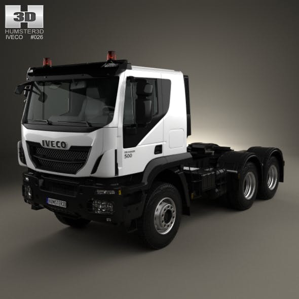 Iveco Trakker Tractor Truck 3-axle 2013 - 3DOcean Item for Sale
