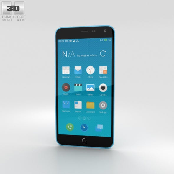 Meizu M1 Note Blue - 3DOcean Item for Sale