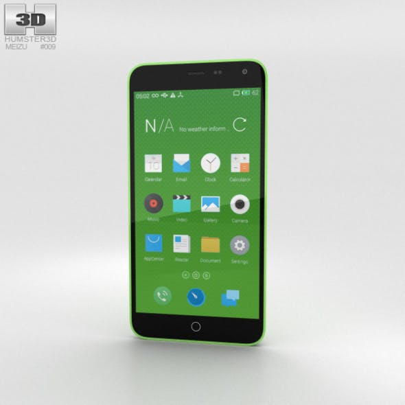 Meizu M1 Note Green - 3DOcean Item for Sale