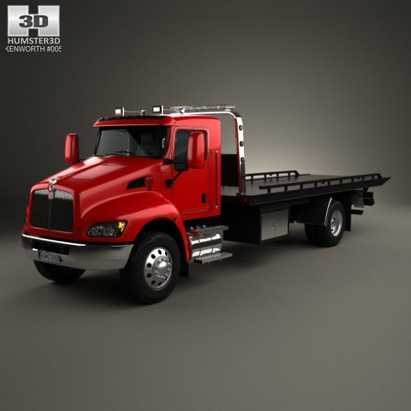 Kenworth T370 Tow Truck 2009 - 3DOcean Item for Sale