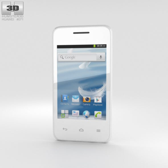 Huawei Ascend Y220 White - 3DOcean Item for Sale