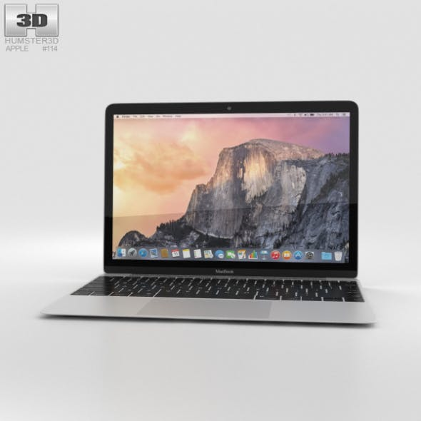 Apple MacBook Silver - 3DOcean Item for Sale