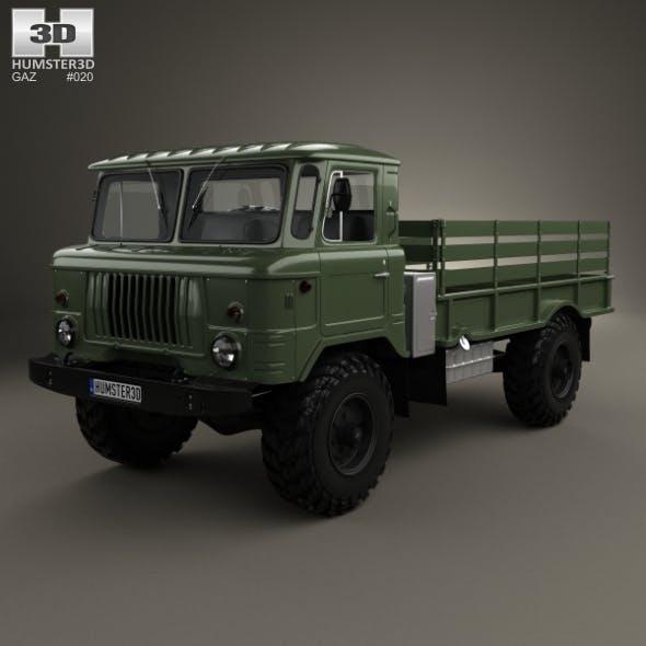 GAZ 66 Flatbed Truck 1964 - 3DOcean Item for Sale