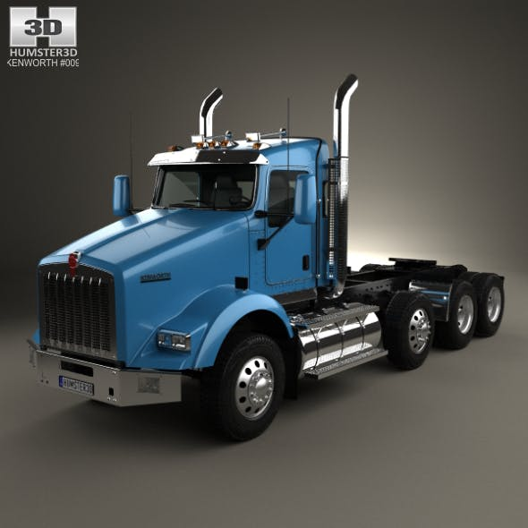 Kenworth T800 Chassis Truck 4-axle 2005 - 3DOcean Item for Sale