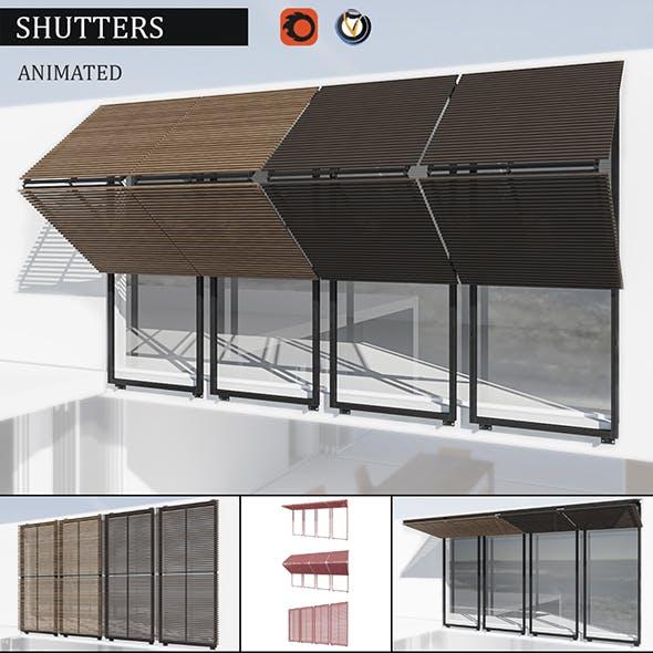 Shutters - 3DOcean Item for Sale