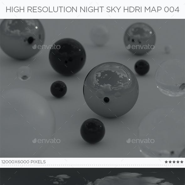 High Resolution Night Sky HDRi Map 004