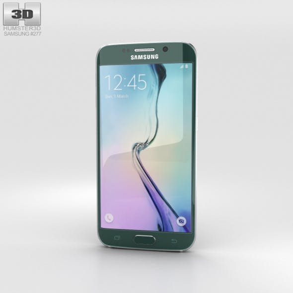 Samsung Galaxy S6 Edge Green Emerald - 3DOcean Item for Sale