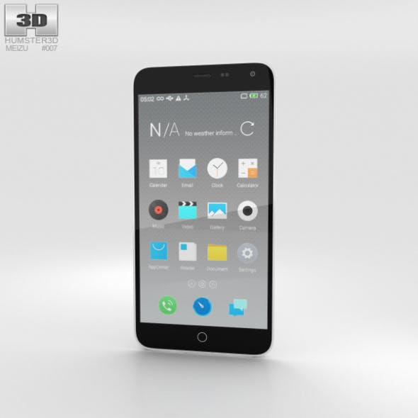Meizu M1 Note White - 3DOcean Item for Sale