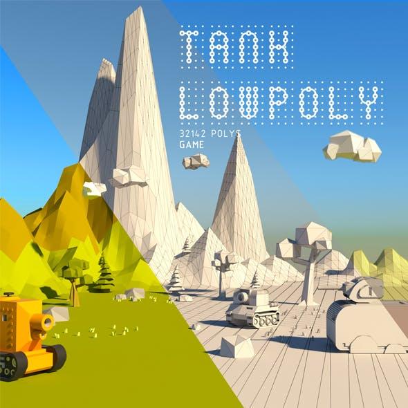 TANK LOWPOLY - 3DOcean Item for Sale