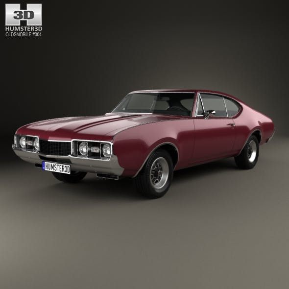Oldsmobile Cutlass 442 (3817) Holiday coupe 1966 - 3DOcean Item for Sale