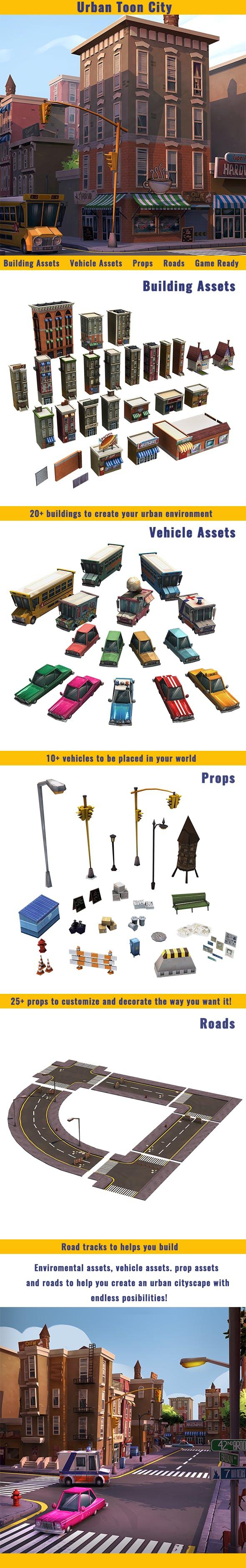 Urban Toon City - 3DOcean Item for Sale