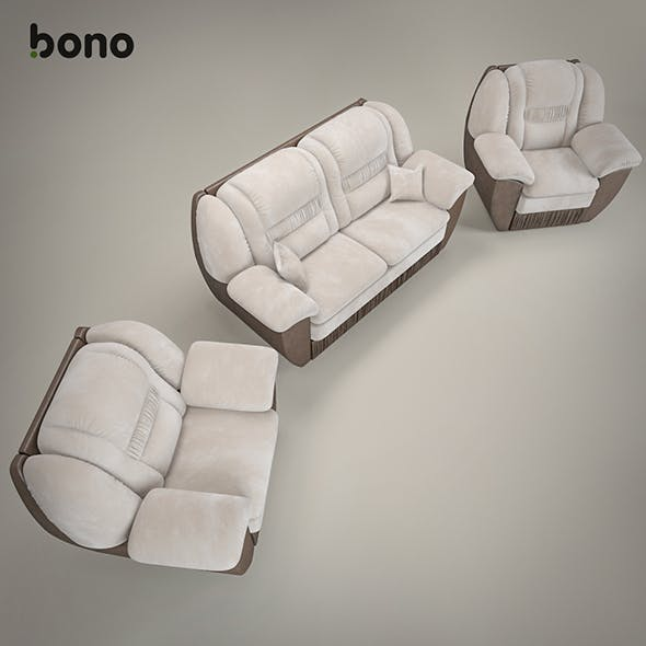sofa and armchair BONO Chester1 - 3DOcean Item for Sale