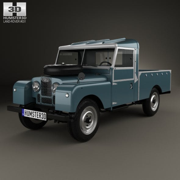 Land Rover Series I 107 Pickup 1958 - 3DOcean Item for Sale