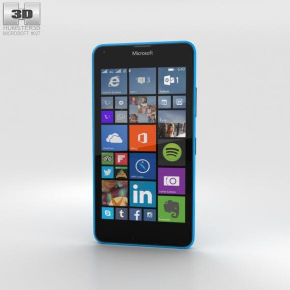 Microsoft Lumia 640 LTE Glossy Cyan