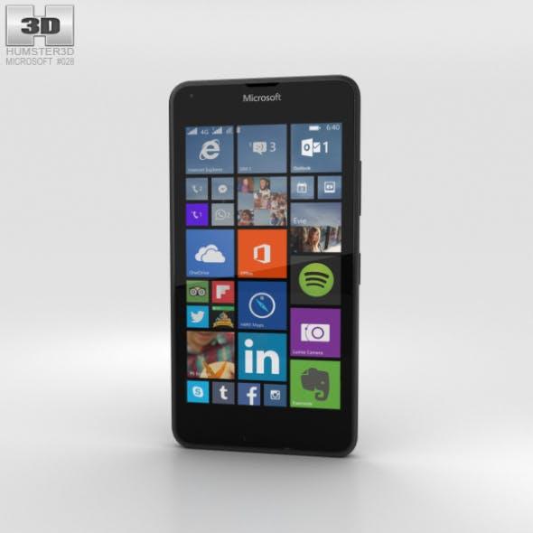 Microsoft Lumia 640 LTE Matte Black - 3DOcean Item for Sale