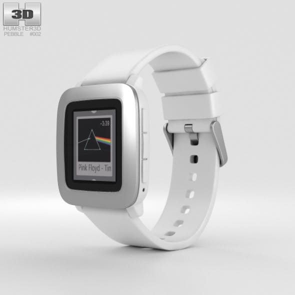 Pebble Time White - 3DOcean Item for Sale