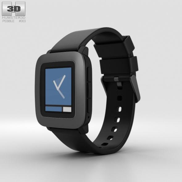 Pebble Time Black - 3DOcean Item for Sale