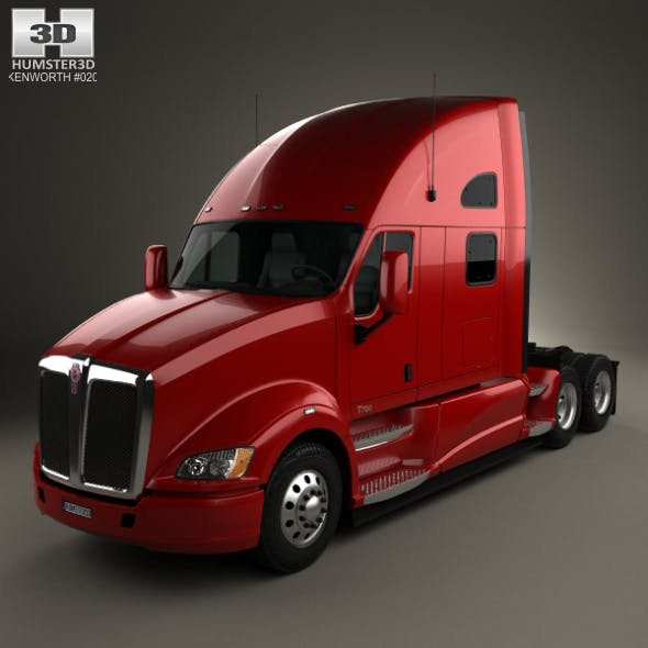 Kenworth T700 Tractor Truck 3-axle 2010 - 3DOcean Item for Sale