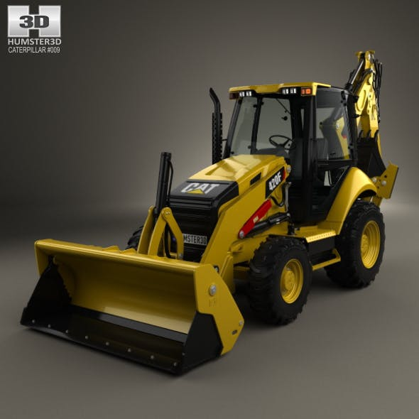 Caterpillar 420F Backhoe Loader 2014 - 3DOcean Item for Sale