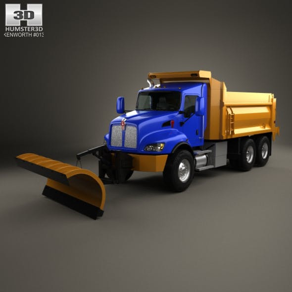 Kenworth T470 Road Cleaner Truck 3-axle 2009 - 3DOcean Item for Sale