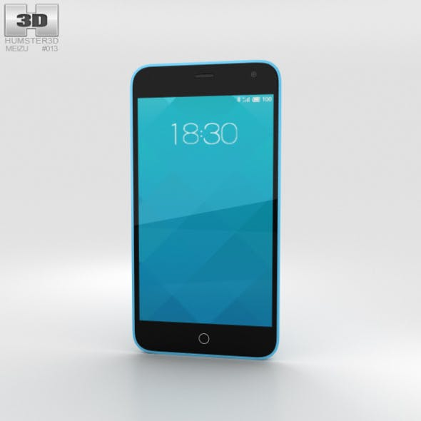 Meizu M1 Blue - 3DOcean Item for Sale