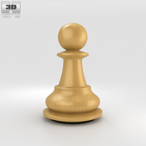 Classic Chess Pawn White