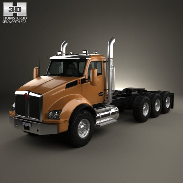 Kenworth T880 Chassis Truck 4-axle 2013 - 3DOcean Item for Sale