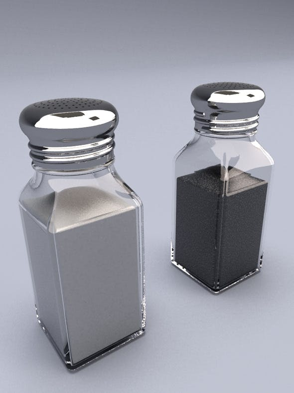 Salt and Pepper Shakers - 3DOcean Item for Sale