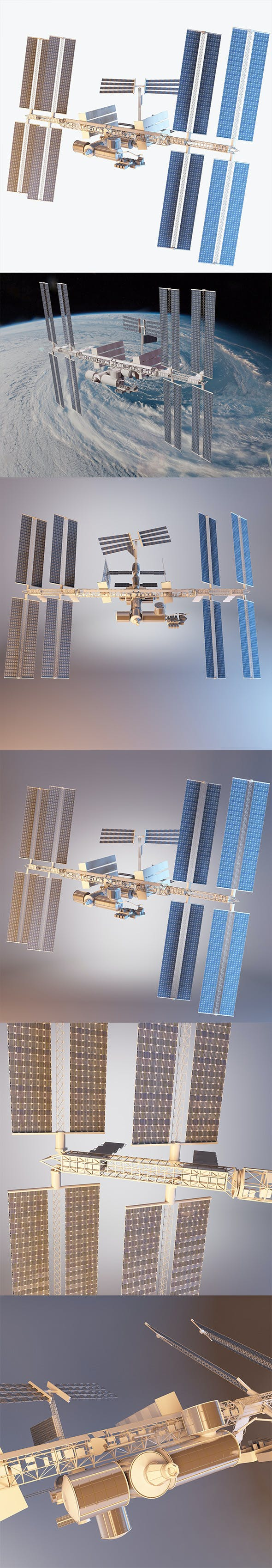 International Space Station With RIG - 3DOcean Item for Sale