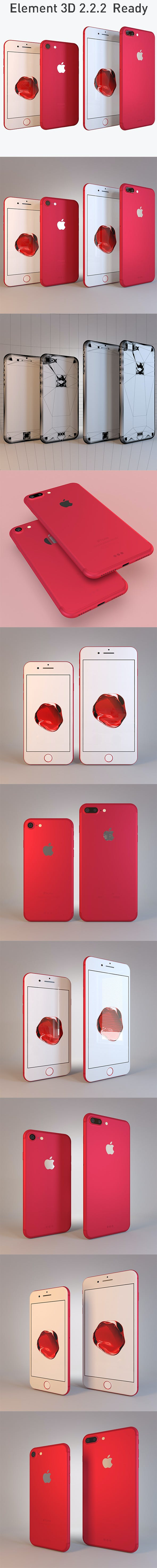 Apple Collection iPhone7 and 7 Plus RED Special Edition - 3DOcean Item for Sale