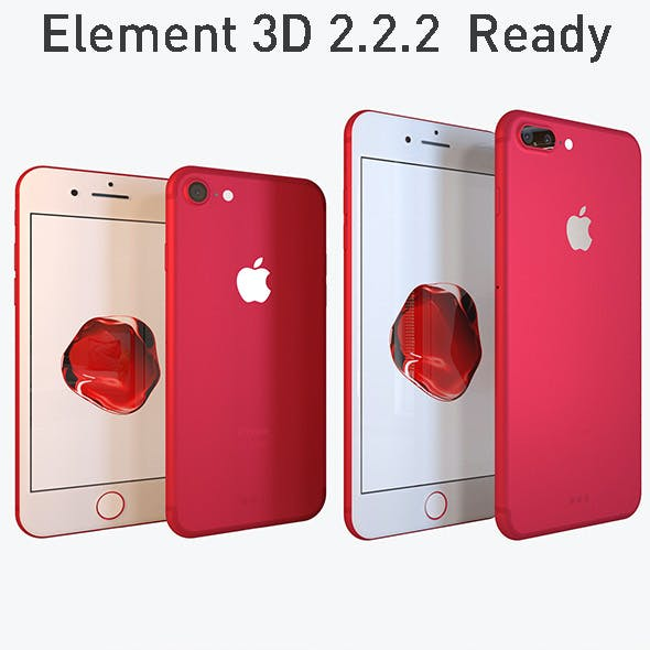 Apple Collection iPhone7 and 7 Plus RED Special Edition