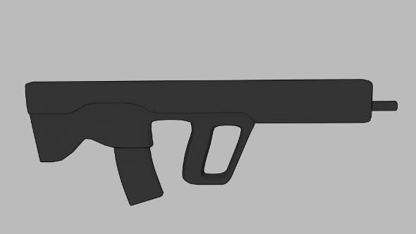 Simple SAR-based assault rifle - 3DOcean Item for Sale