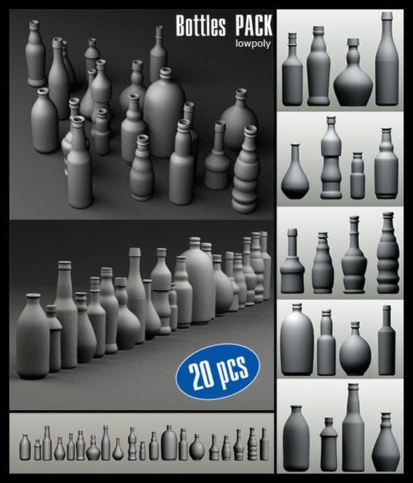 Bottles Pack (20 pcs) - 3DOcean Item for Sale