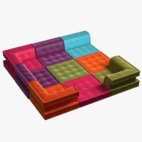 Modular Sofa MAHJONG - 3DOcean Item for Sale