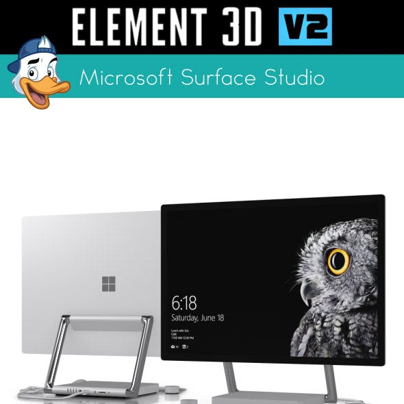 Microsoft Surface Studio for Element 3D