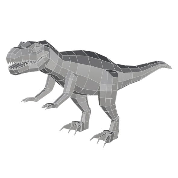 Low Poly T Rex - 3DOcean Item for Sale