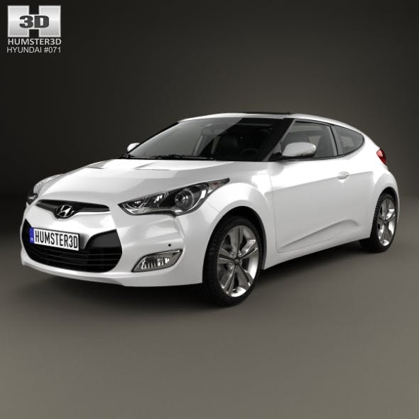 Hyundai Veloster with HQ interior 2014 - 3DOcean Item for Sale