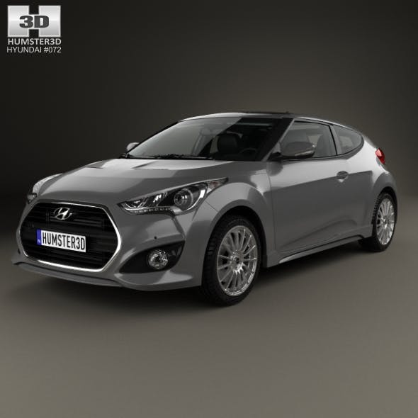 Hyundai Veloster Turbo with HQ interior 2014 - 3DOcean Item for Sale