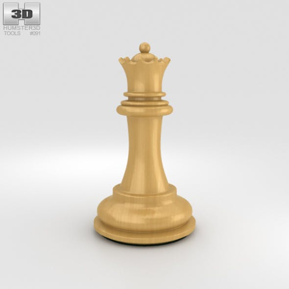 Classic Chess Queen White - 3DOcean Item for Sale
