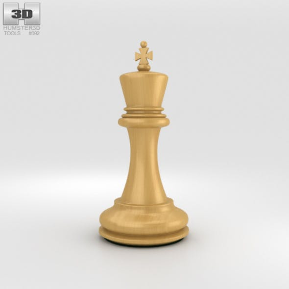 Classic Chess King White - 3DOcean Item for Sale